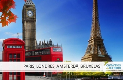 Paris e Londres - ext. Amsterdã